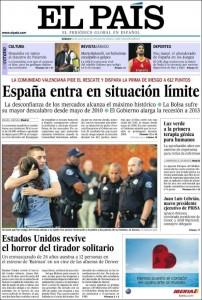 portada EL PAIS julio 2012