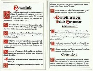 constitución facsímil